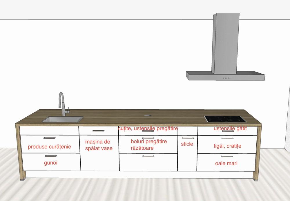 Blaturi Bucatarie Dimensiuni.Bucătărie Cu Insulă Kuxa Studio
