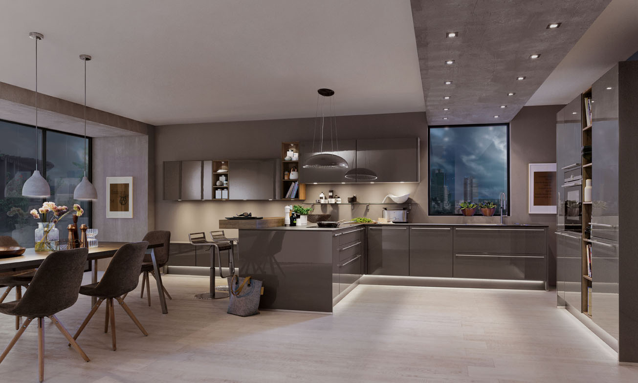 Bucatarii moderne - Lumiere sous meuble de cuisine ...
